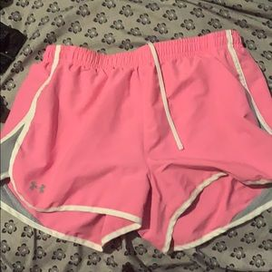 Pink under armor shorts